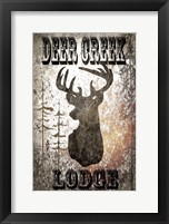 Framed Lodge Deer Creek Lodge
