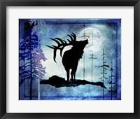 Framed Midnight Elk