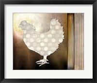 Framed Morning Chicken 1