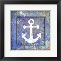 Framed Beach House Anchor