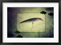 Framed Fishing - Deep Blue