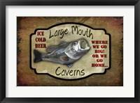 Framed Large Mouth Cavern II