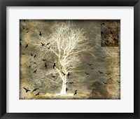 Framed Raven's World Spirit Tree