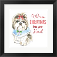Framed Glamour Pups Christmas II