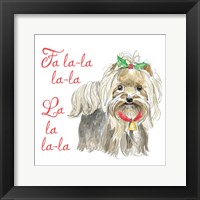Framed Glamour Pups Christmas VI