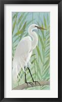 Framed Egret by the Shore I