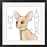 Framed Puppy Love Chihuahua Color