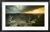 Framed Devil's Throat Falls Under Stormy Skies, Brazil