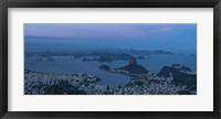 Framed View of City from Christ the Redeemer, Rio de Janeiro, Brazil