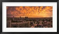 Framed Cityscape at Sunset, Santiago, Chile