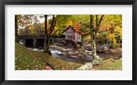 Framed Glade Creek Grist Mill, West Virginia