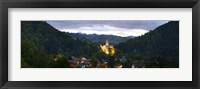 Framed Bran Castle Illuminted, Transylvania, Romania