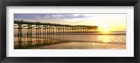 Framed Pier at Sunset, Crystal Pier, Pacific Beach, San Diego, California