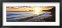 Framed Windan Sea Beach at Sunrise, La Jolla, San Diego County, California