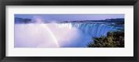 Framed Horseshoe Falls with Rainbow, Niagara Falls, Ontario, Canada