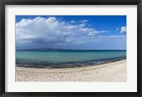 Framed Tecolote Beach in La Paz, Baja California Sur, Mexico