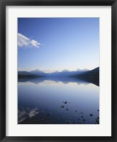 Framed Lake McDonald and the Rocky Mountains, Glacier National Park, Montana
