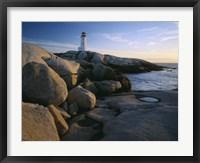 Framed Peggys Cove Lighthouse, Nova Scotia, Canada