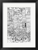 Framed B&W City Scene I