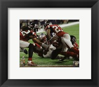 Framed James White game winning touchdown Super Bowl LI