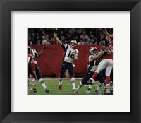 Framed Tom Brady Super Bowl LI