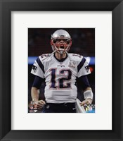 Framed Tom Brady Super Bowl LI 2017