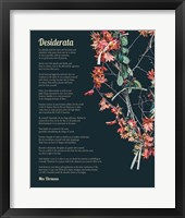 Framed Desiderata Autumn Branches