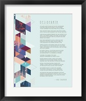 Framed Desiderata Abstract Geometric Background