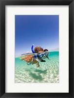 Framed Couple snorkeling near Beqa Lagoon, Beqa Island, Fiji