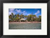 Framed Shelter at Channel Beach, Turtle Island, Yasawa Islands, Fiji