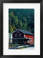 Framed Railroad Depot in West Cornwall, Litchfield Hills, Connecticut
