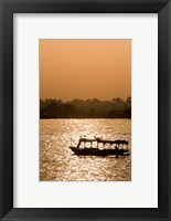 Framed Egypt, Luxor Water taxi at sunset Nile River