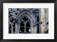 Framed Castle Window and Gargoyle, Prague, Czech Republic