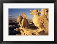 Framed Gargoyles of the Notre Dame Cathedral, Paris, France
