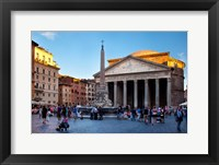 Framed Sunlight on the Pantheon, Rome, Lazio, Italy