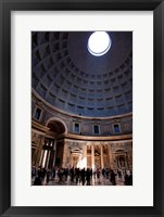 Framed Interior of the Pantheon in Rome, Lazio, Italy