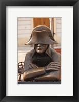 Framed Slovakia, Bratislava, Bronze Napoleon statue
