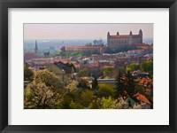 Framed Bratislava Castle, Bratislava, Slovakia