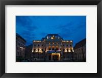 Framed Night view of Bratislava Opera House, Slovakia