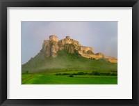 Framed Spissky Hrad in Mist, Slovakia