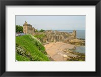 Framed Coastline Beach and Ruins of St Andrews, Scotland