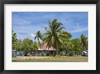 Framed Fiji, Southern Lau Group, Island of Fulanga. Village of Fulanga. Typical village home.