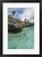 Framed Scenic lagoon located inside volcanic caldera, Fiji
