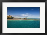 Framed Turquoise waters of Blue Lagoon, Yasawa, Fiji, South Pacific