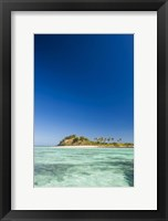 Framed Turquoise waters of Blue Lagoon, Yasawa, Fiji
