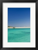 Framed Turquoise waters of Blue Lagoon, Fiji, South Pacific