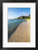 Framed White sandy beach, Oarsman Bay, Yasawa, Fiji, South Pacific