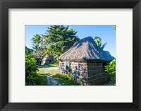 Framed Local thatched hut, Yasawa, Fiji, South Pacific