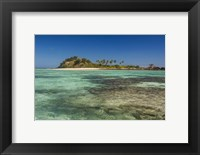 Framed turquoise waters of the blue lagoon, Yasawa, Fiji, South Pacific
