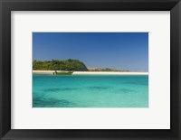Framed turquoise waters of the blue lagoon, Yasawa, Fiji